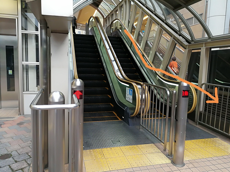 永山駅エスカレーター