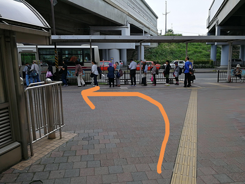 京王永山駅バス停前
