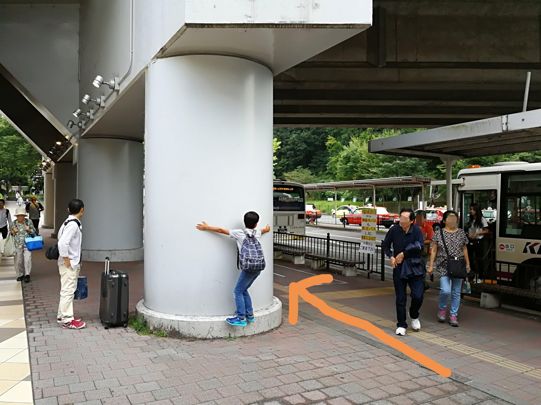 京王永山駅バスロータリー