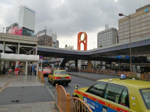 上野駅タクシー乗り場を後ろから