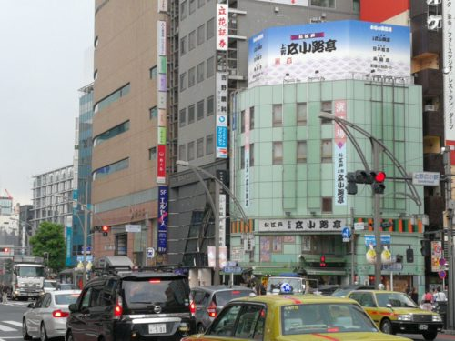 上野広小路中央通り沿い