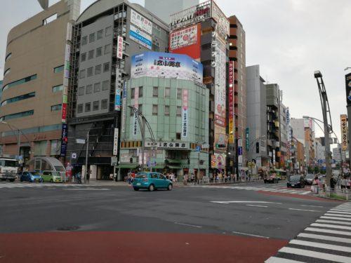 上野広小路交差点