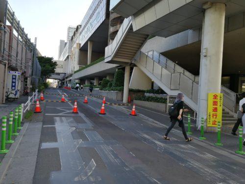 浜松町駅北口通行止め