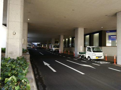 貿易センタービル内タクシー乗り場廃止