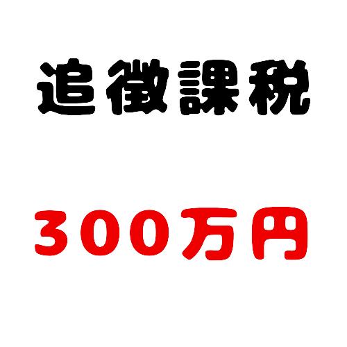 追徴課税300万円