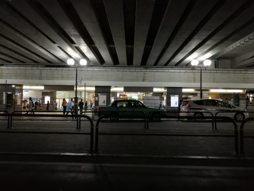 経堂駅タクシー乗り場 夜