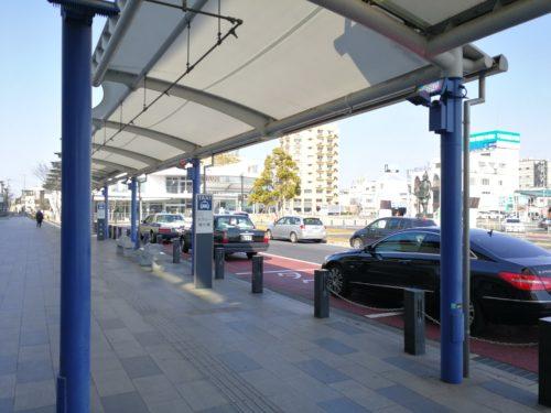 太田駅北口タクシー降り場と乗り場