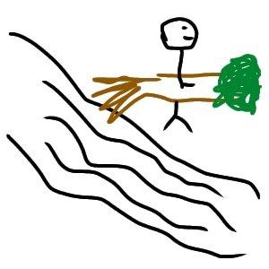 森繁さんが川で大木を拾う