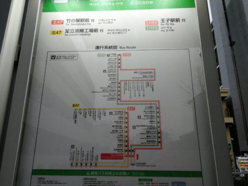 足立区役所前路線図