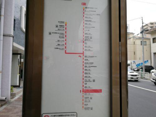 猿江一丁目路線図