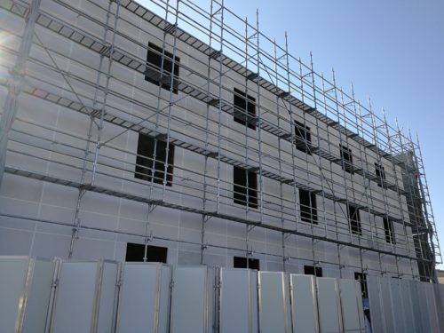 新社屋建設中の世田谷営業所
